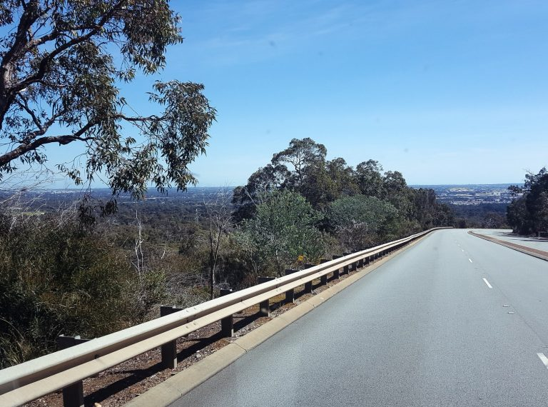 empty road with beautiful view in Perth, western australia