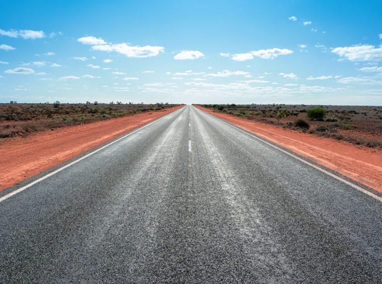 longest straight road in Australia