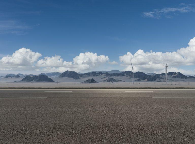road on western wilderness