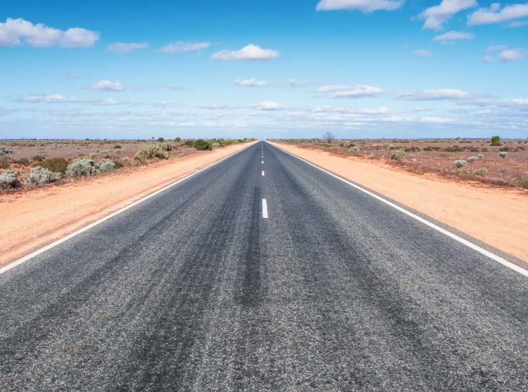 road to horizon in western Australia