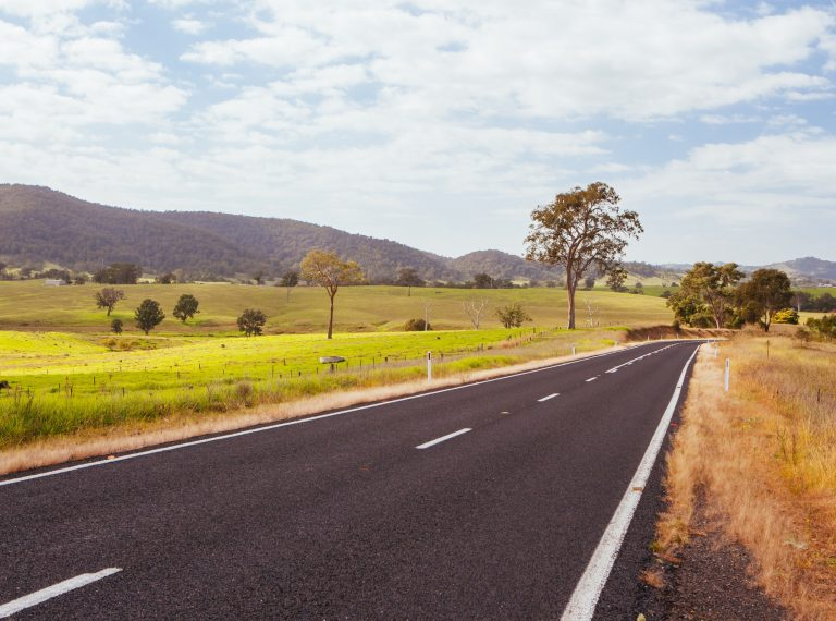 Winding Australian Road Near Bega